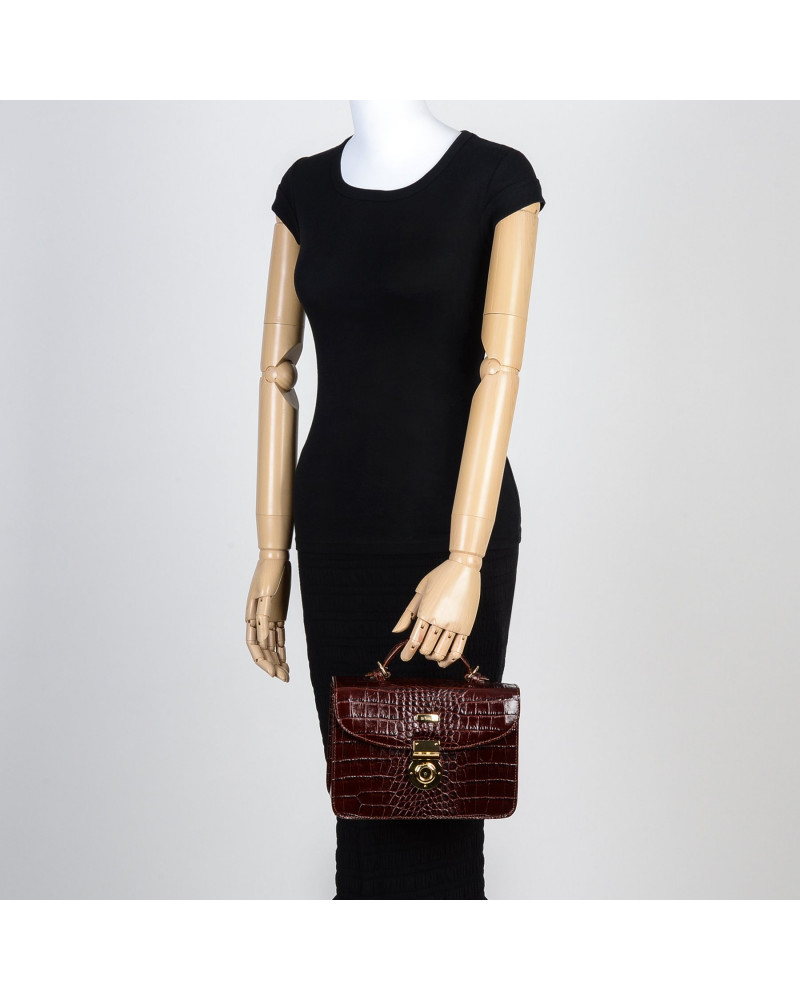 handbag leather bag handle with muskets Bordeaux